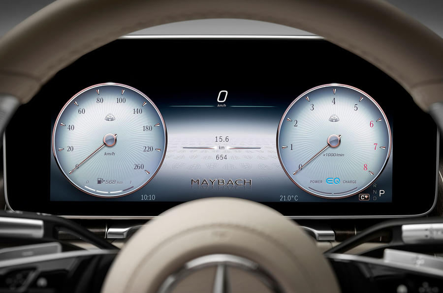 2021 Mercedes-Maybach S-Class official images - instruments