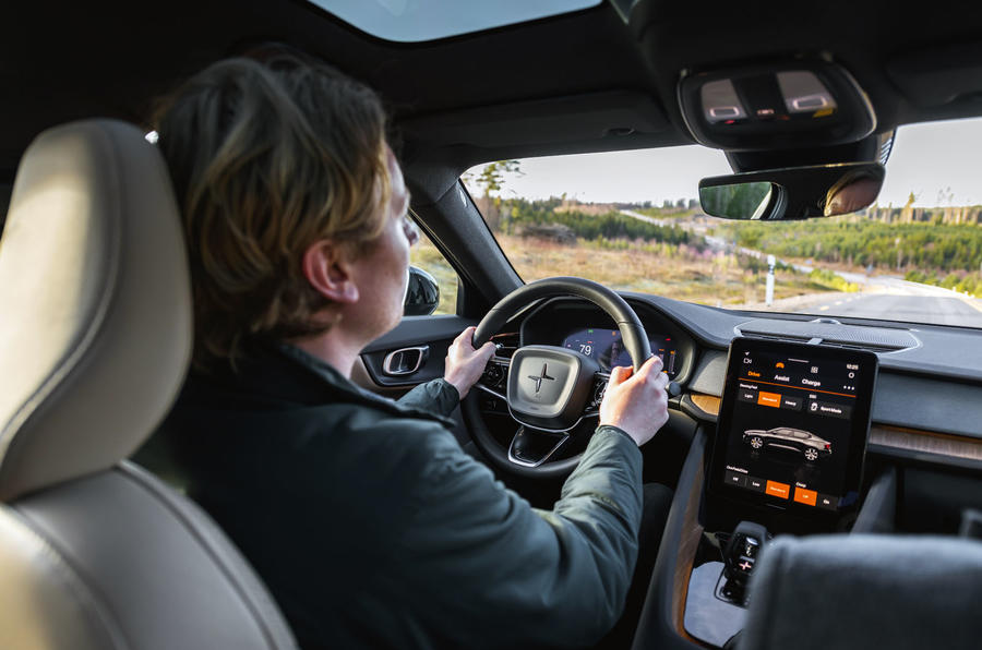 2020 Polestar 2 prototype drive - Richard Lane driving