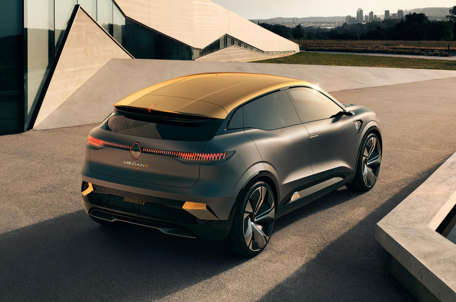 Renault Megane eVision concept official images - static rear