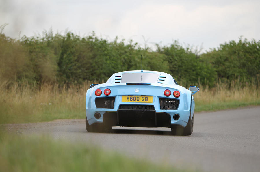 Road test rewind: Noble M600 - road rear