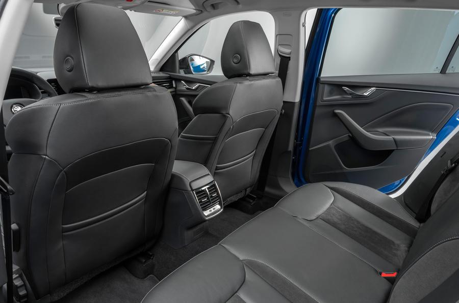 Skoda Scala 2019 official reveal - studio rear seats
