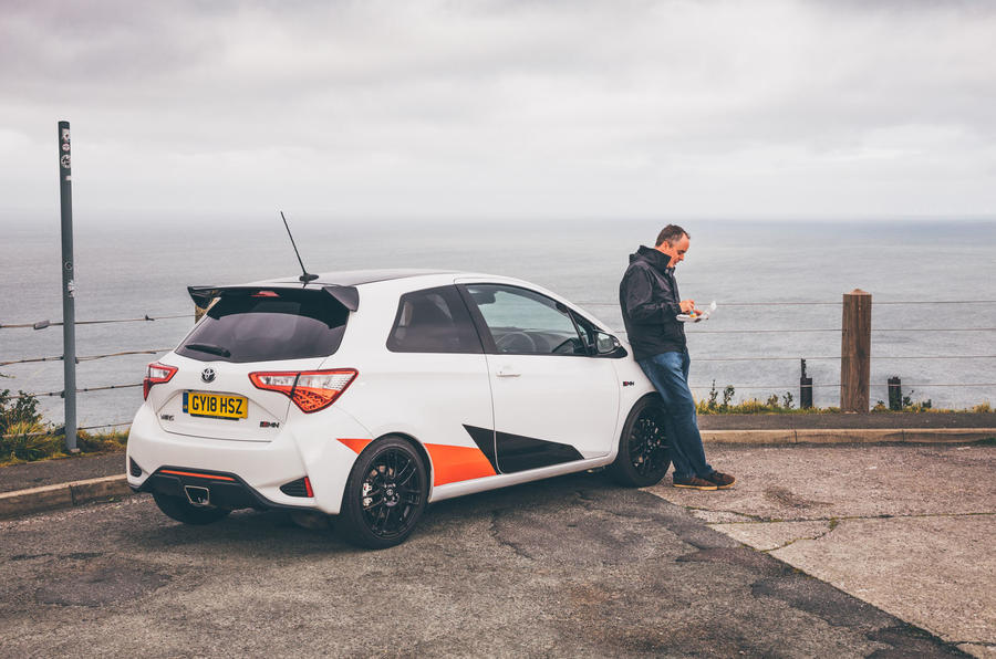 2019 Wales Rally GB preview in a Yaris GRMN - fish and chips