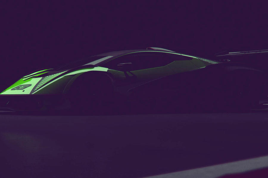 Lamborghini SCV12: track-only model previewed ahead of unveiling ...