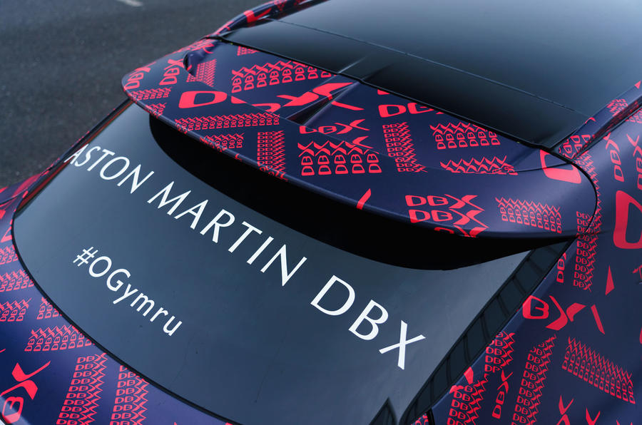 2020 Aston Martin DBX camouflaged prototype ride - spoiler