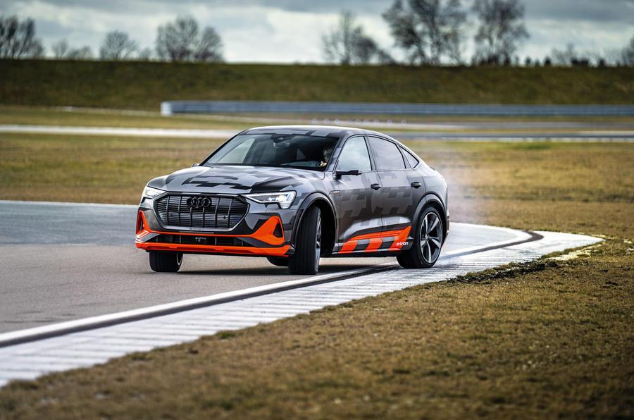 Audi E-tron S Sportback prototype drive - step out