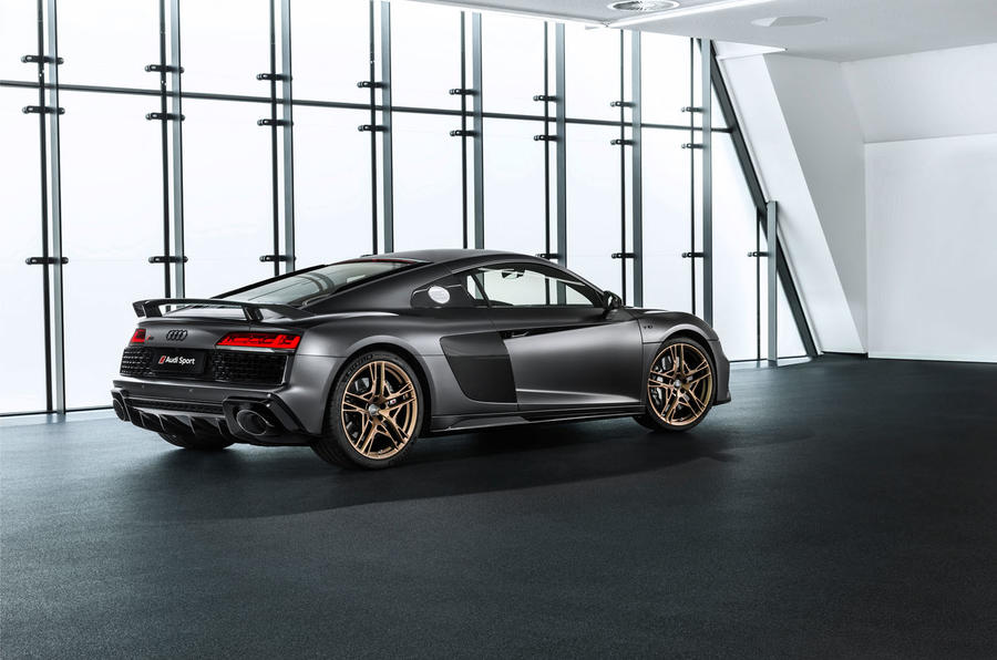 Audi R8 V10 Decennium official press images - static rear
