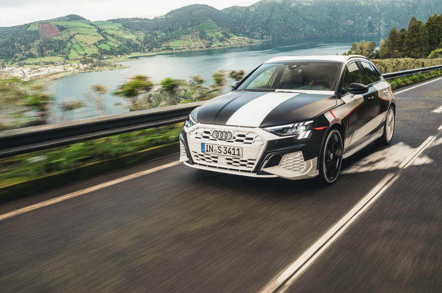 Audi S3 2020 prototype drive - on the road front