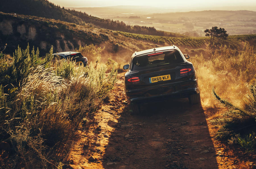 2020 Bentley Bentayga refresh prototype drive - offroad rear