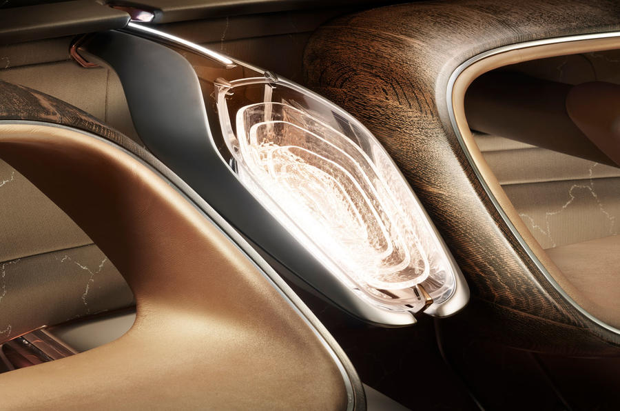 Bentley EXP 100 GT Concept official images - wood detail