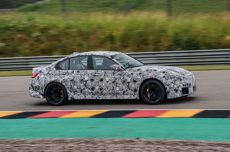 2020 BMW M3 prototype first drive - tracking side