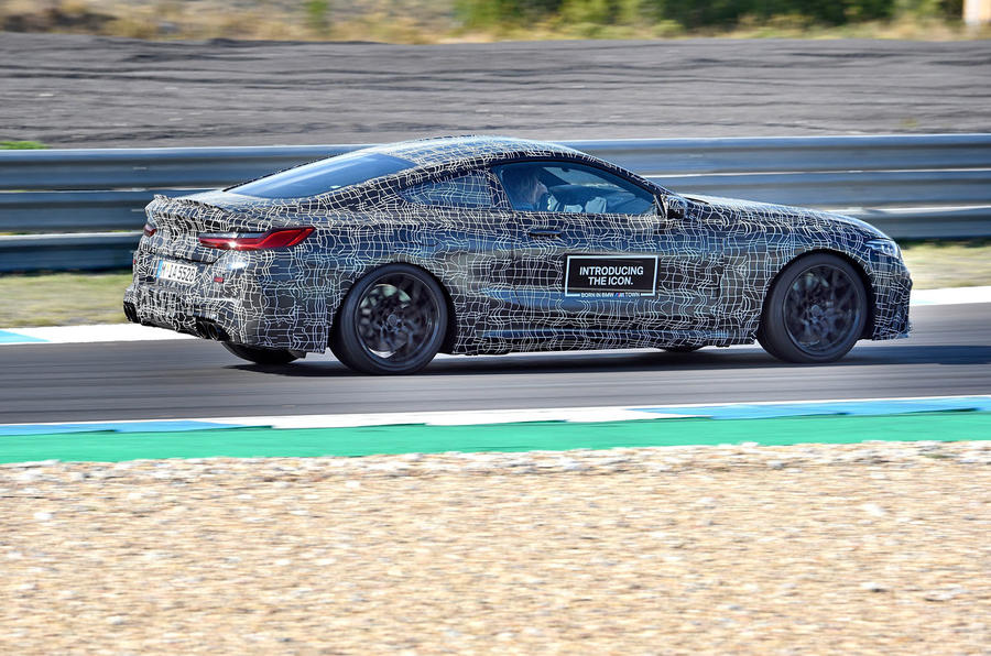 2019 BMW M8 prototype ride - track right