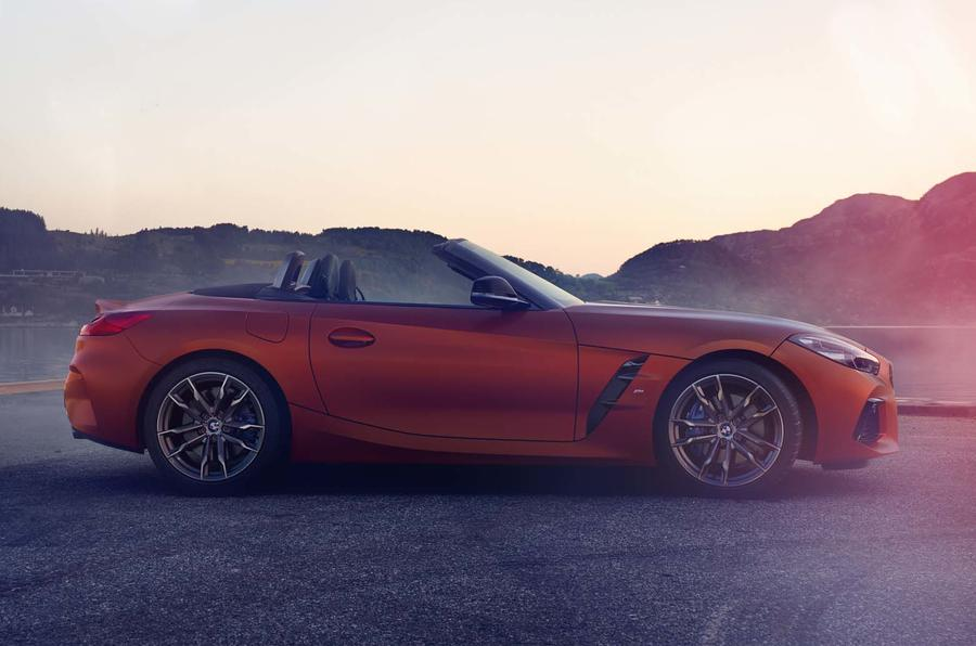 2019 BMW Z4 official reveal Pebble Beach - side