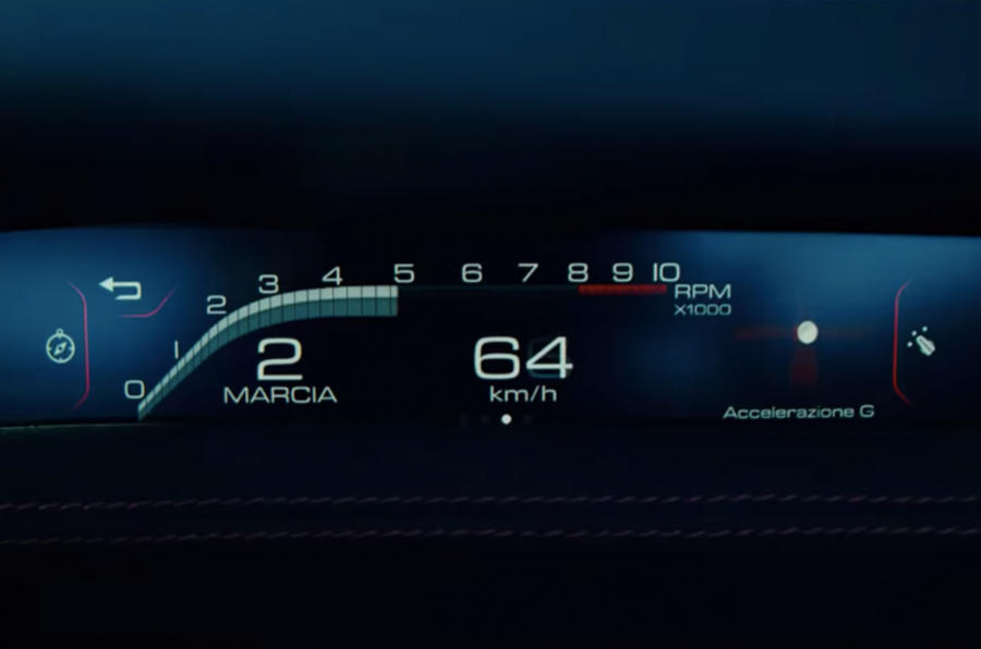 Ferrari F8 Tributo 2019 first ride review - digital instruments