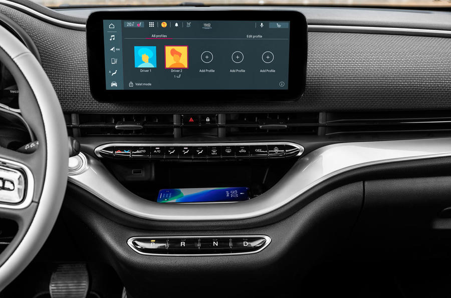 Fiat 500 electric 2020 official press images - infotainment
