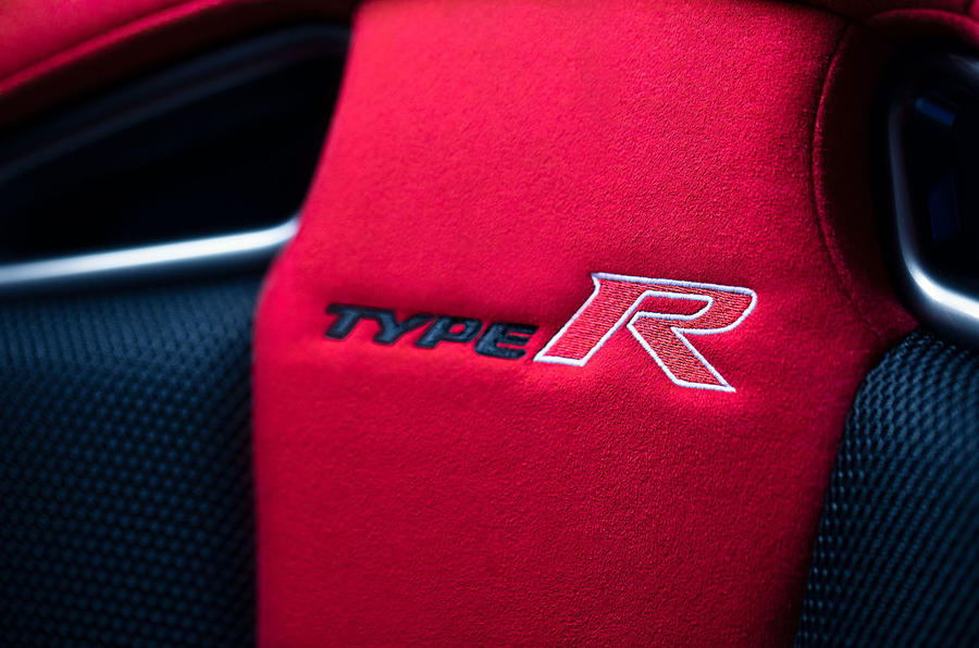 Honda Civic Type R limited edition 2020 official press photos - seat details