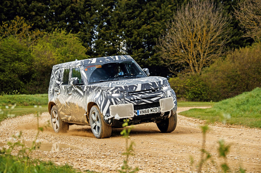 2020 Land Rover Defender prototype ride - cornering left