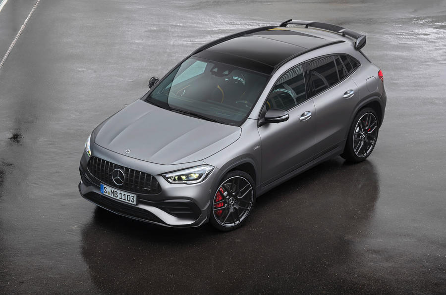 Mercedes-AMG GLA 45 S 2020 official press images - three quarters