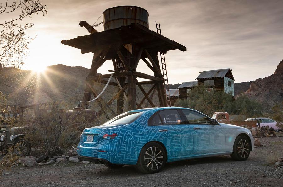 Mercedes-Benz E-Class 2020 prototype ride - static rear
