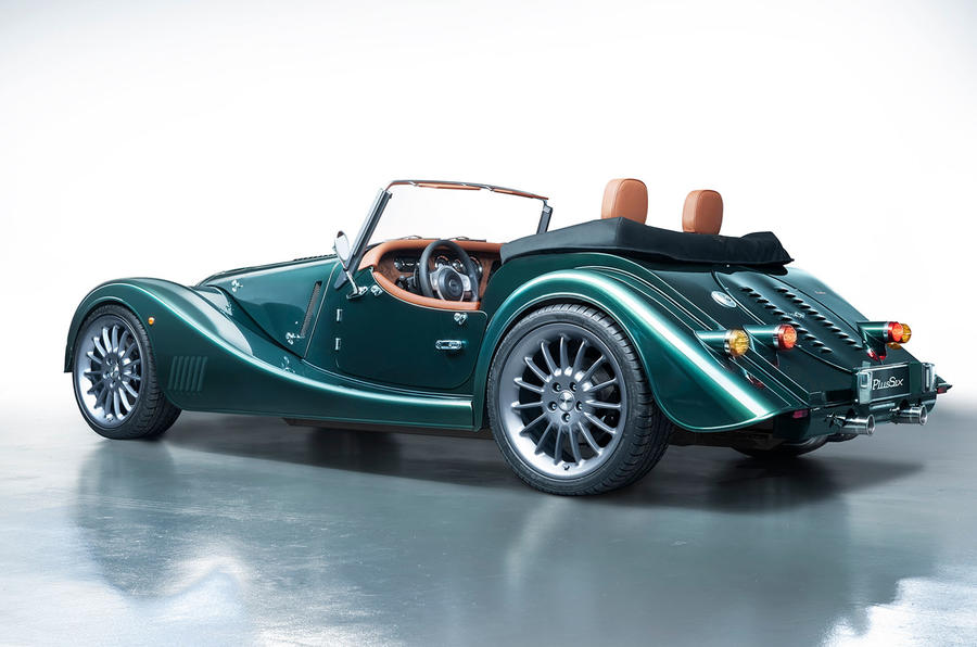Morgan Plus Six 2019 official press images - static rear