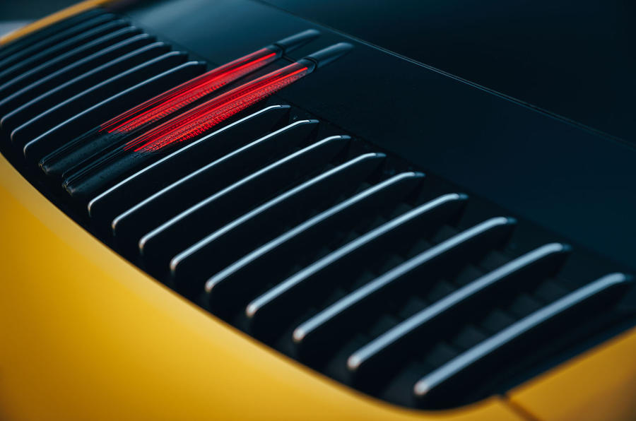 2019 Porsche 911 Carrera S track drive - rear light