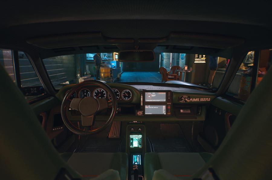 Porsche 911 Cyberpunk 2077 tie-in - dashboard