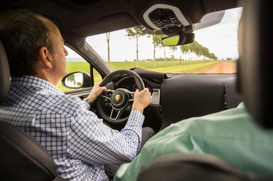 Porsche Macan prototype 2018 Frankel driving