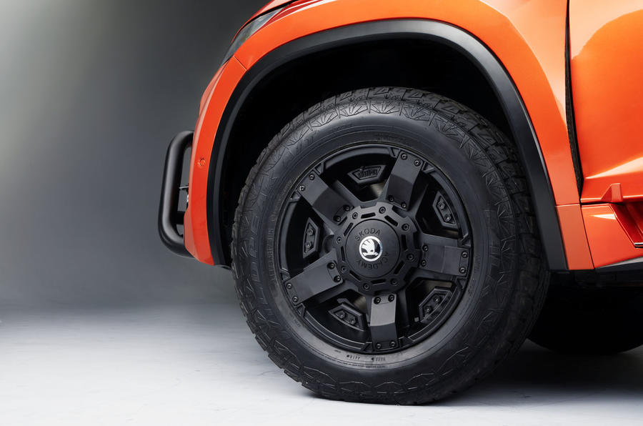 Skoda Mountiaq concept first drive review - alloy wheels