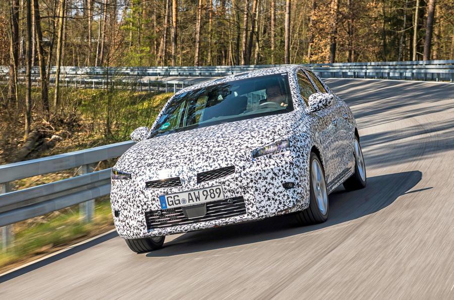 Vauxhall Corsa 2019 prototype drive - cornering front