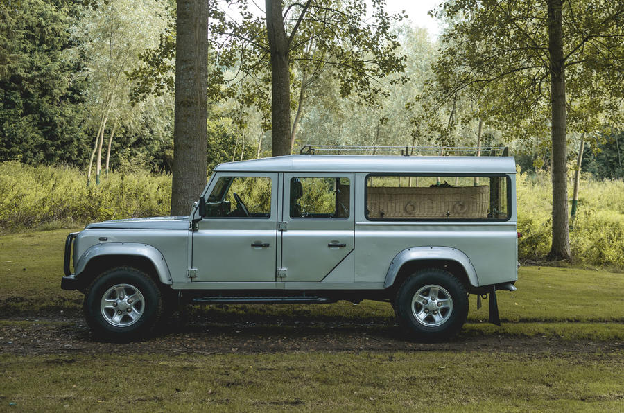 Defender hearse conversion - side