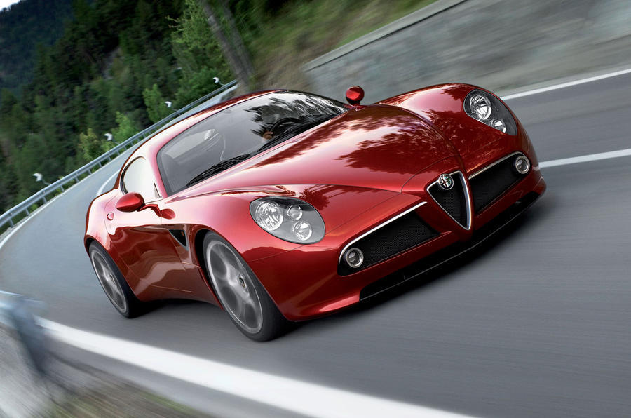 Alfa Romeo 8C moving at speed