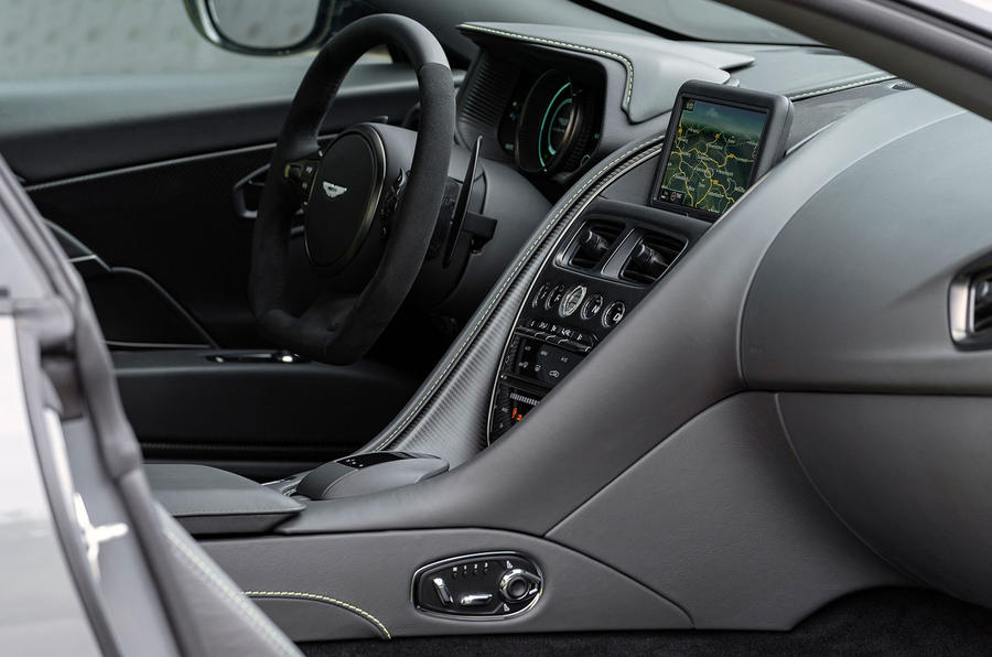 Aston Martin DB11 AMR 2018 review centre console