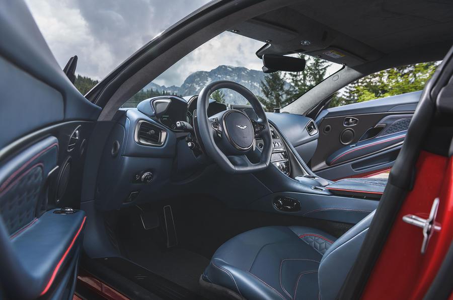 Aston Martin DBS Superleggera 2018 first drive review dashboard