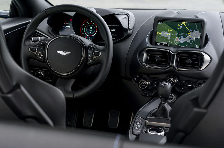 Aston Martin Vantage manual 2019 first drive review - dashboard