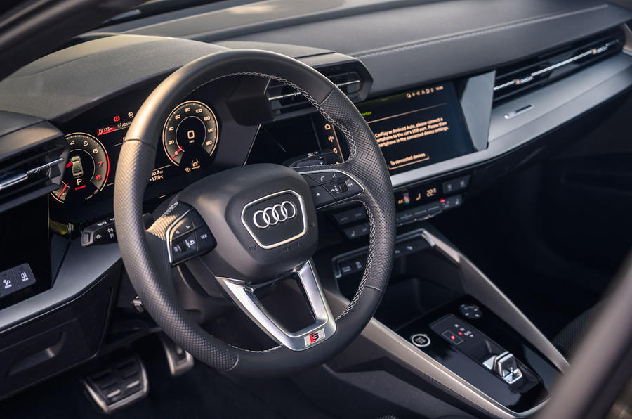 Audi A3 saloon 2020 UK first drive review - steering wheel