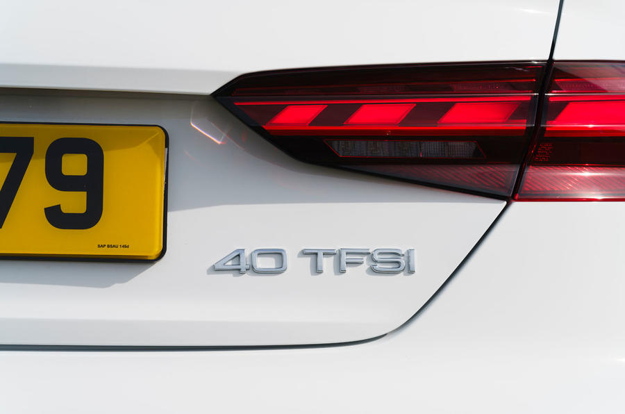 Audi A5 Coupe 2020 UK first drive review - rear lights