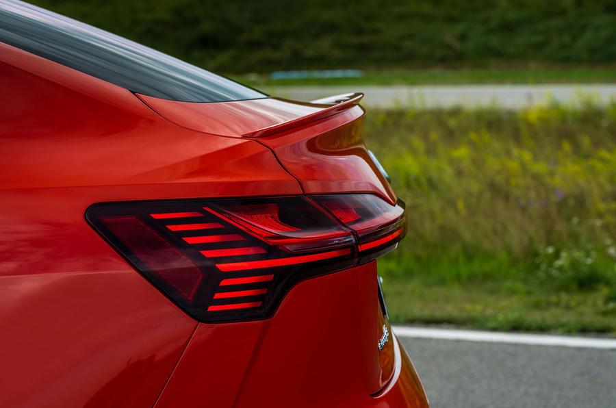 Audi E-tron S Sportback 2020 first drive review - rear lights