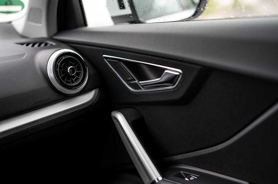Audi Q2 2020 first drive review - door cards