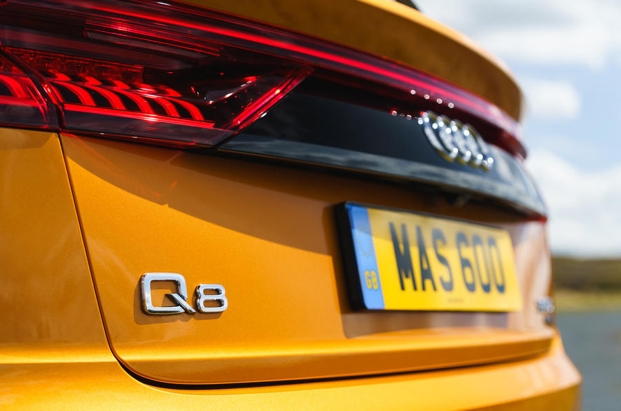 Audi Q8 50 TDI Quattro S-Line 2018 UK first drive rear lights