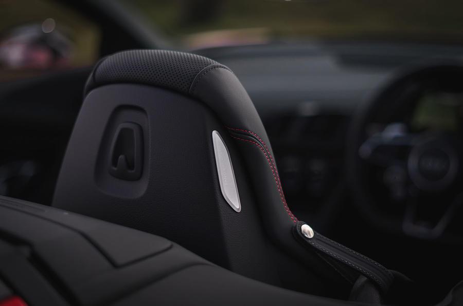 Audi R8 Spyder 2019 UK first drive review - headrest
