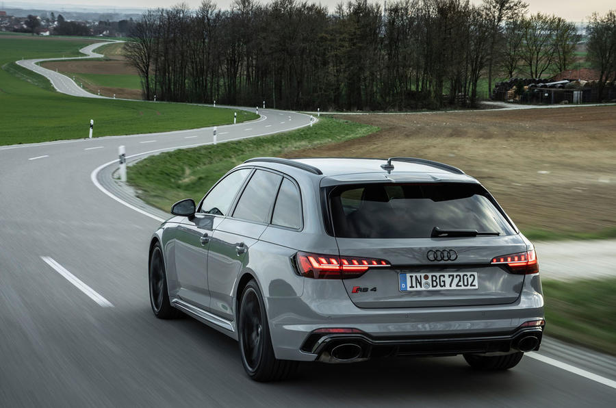 Audi RS4 Avant 2020 first drive review - on the road rear