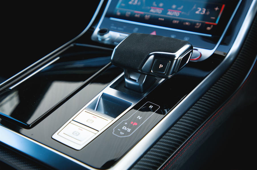 Audi RS Q8 2020 UK first drive review - gear selector