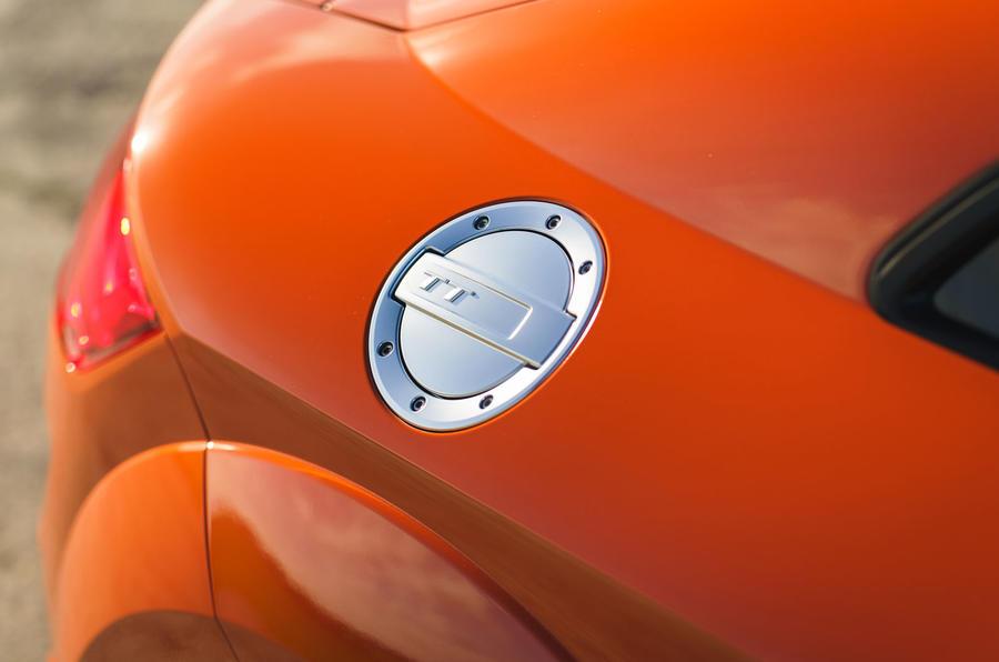 Audi TT Coupe 2019 UK first drive review - fuel filler cap