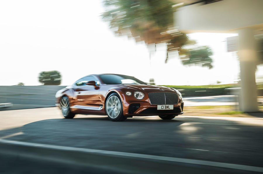 Bentley Continental GT V8 2019 first drive review - on the road front
