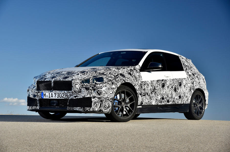 BMW 1 Series 2019 prototype drive - static front