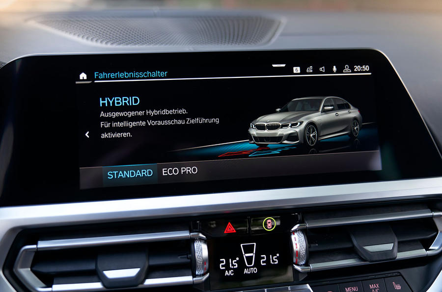 BMW 3 Series 330e 2019 first drive review - infotainment