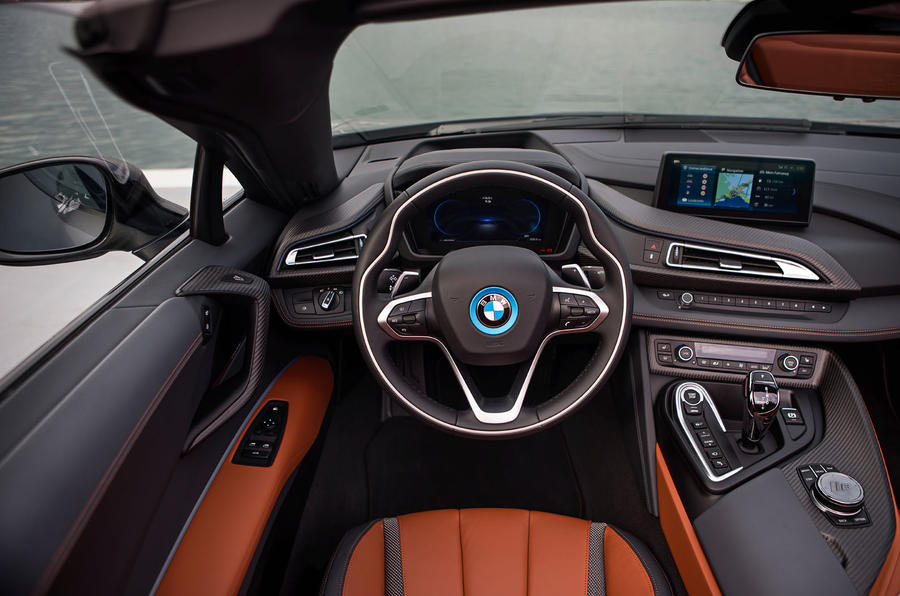 BMW i8 Roadster 2018 first drive review dashboard
