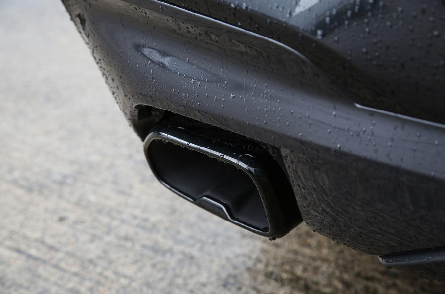 BMW X3 M40i 2018 UK review exhaust