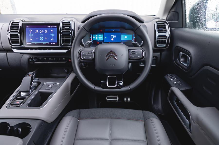 Citroen C5 Aircross Hybrid 2020 UK first drive review - dashboard