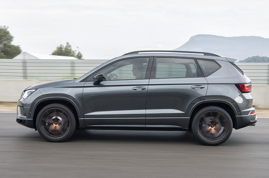 Cupra Ateca 2018 prototype first drive review on the road side