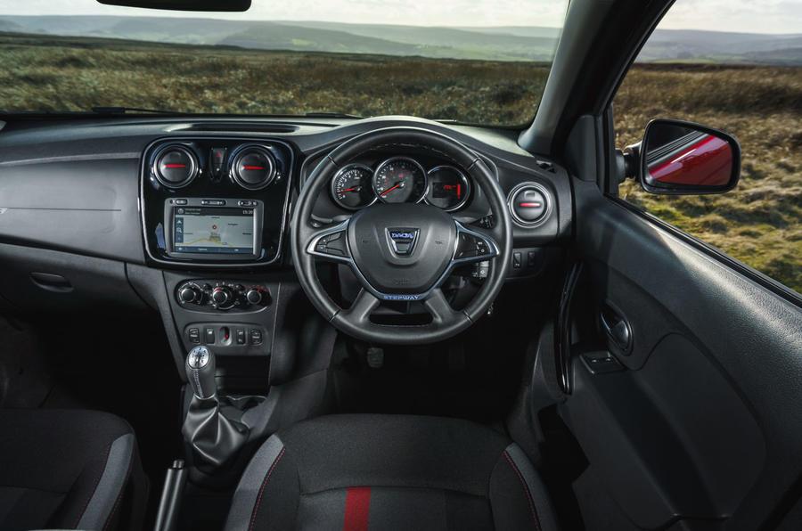 Dacia Sandero Stepway Techroad 2019 first drive review - steering wheel